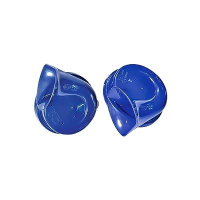 HELLA 012010801 Blue Trumpet Horn Kit, 12 V, 400/500 Hz (Universal Fit): Automotive
