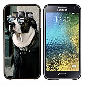 TECHCASE---Cubierta de la caja de protección para la piel dura ** Samsung Galaxy E5 E500 ** --Buena Divertida Badass fumadores Hipster perro