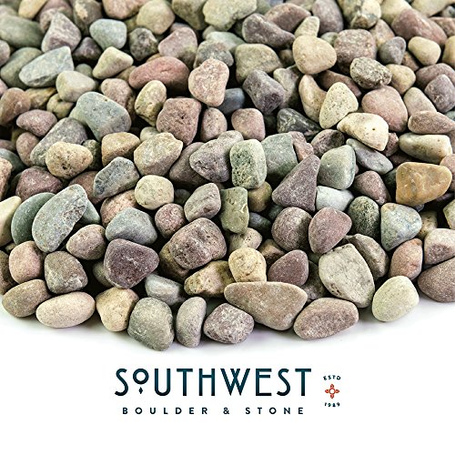 Landscape Rock and Pebble | 20 Pounds | Natural, Decorative Stones and Gravel for Landscaping, Gardening, Potted Plants, and More (Patagonia, 3/8 (Landscaping Rocks)