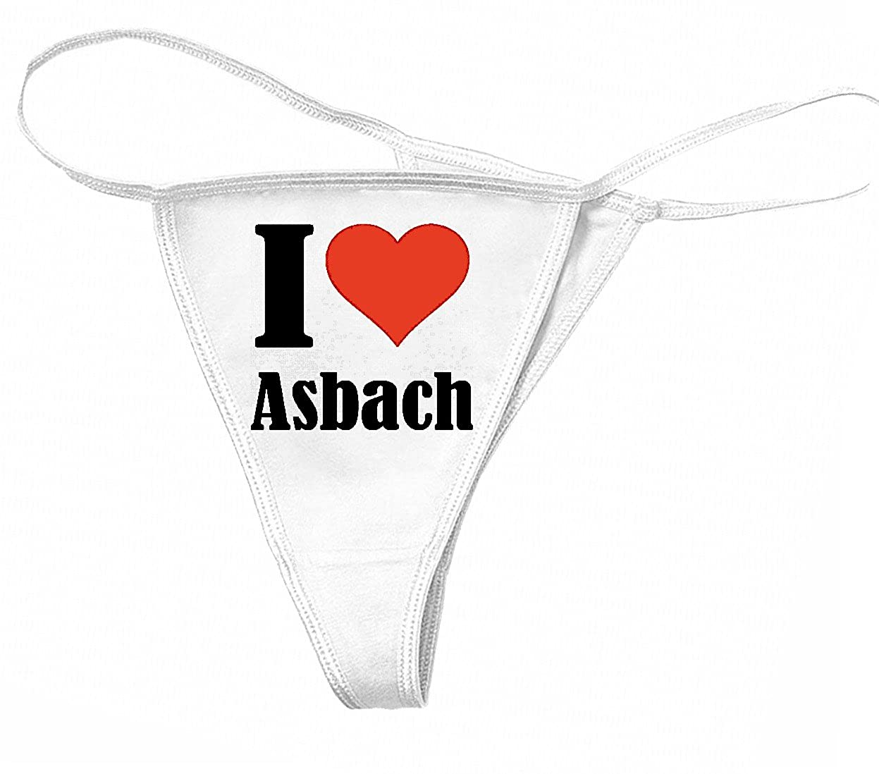 Reifen-Markt Damen String Tanga - Thong I Love Asbach … Das ideale Geschenk für Valentinstag, Weihnachten oder Geburtstag des Partners