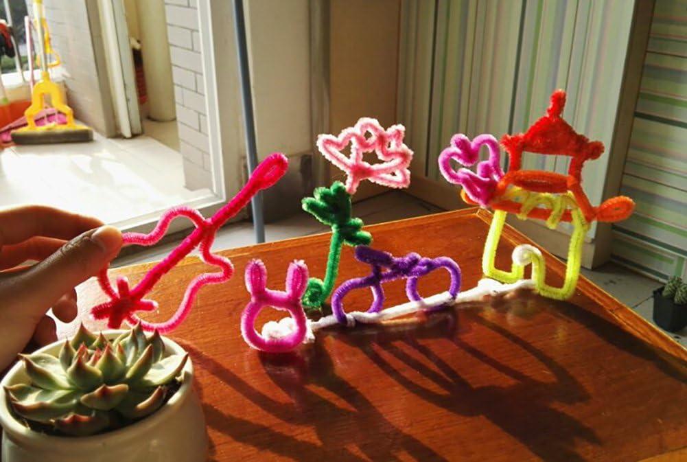 Gr/ün 30cm x 6mm Monbedos Pfeifenreiniger Chenille Craft shilly-Stick DIY Creative Handgefertigt Kinderzimmer Kinder Spielzeug 100/St/ück