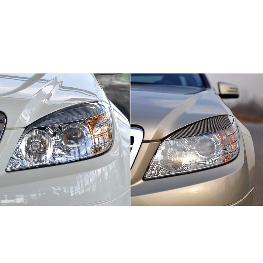 F-blue 1 Coppia replacemnt per Mercedes Benz W204 2008-2011 faro fibra di carbonio sopracciglio di auto palpebra Trim