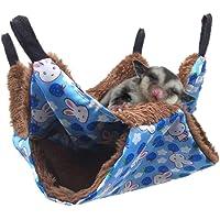 Oncpcare Husdjurskorg hängmatta, våningssäng socker segelflygplan hängmatta, marsvin bur tillbehör sängkläder, varm…