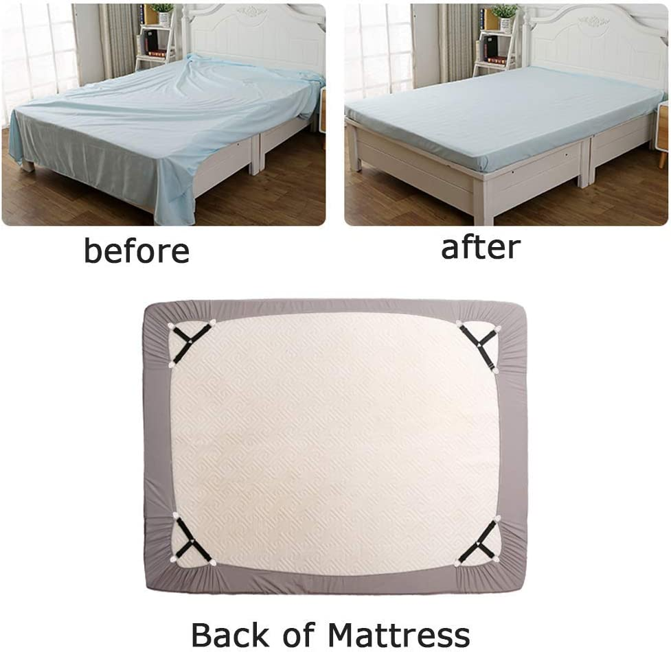 Bed Sheet Clips 3 Way Anti-slip 6 Sides Elastic Sheet Adjustable Fasteners
