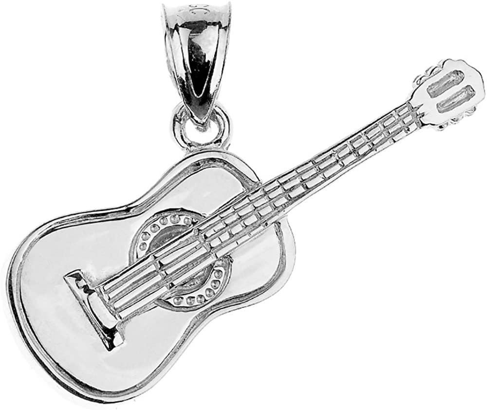 STERLING SILVER PENDANT CHARM SOLID 925 GUITAR NEW