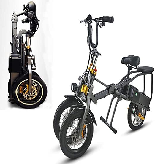 AA100 Bicicleta eléctrica de Tres Ruedas Plegable/Material de ...