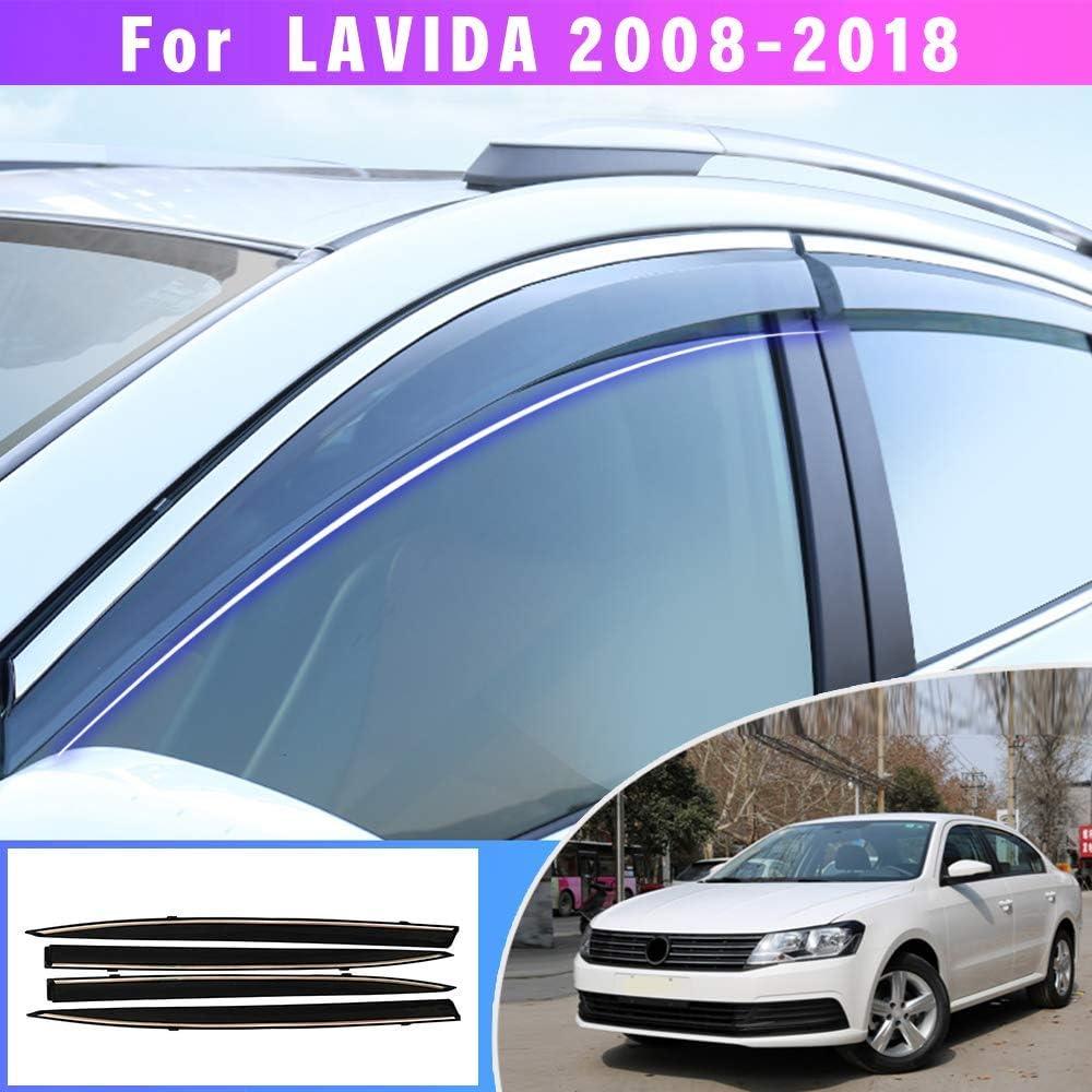 Maite Side Window Deflector For Volkswagen VW Magotan B8 2017 2018 Original Window Visors Sun Rain Guard 4Pcs