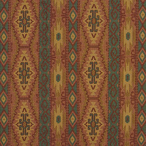 J9600J Southwestern Striped Geometric Woven Decorative Novelty Upholstery Fabric by The Yard ()
