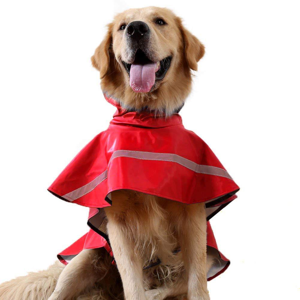 Red XXL Red XXL Waterproof Adjustable Dog Raincoat Pet Lightweight Reflective Jacket,Red,XXL