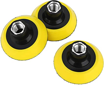 Velcro Car Polishers and Buffers Backing Plate 3 inch 75 mm Hook /& Loop