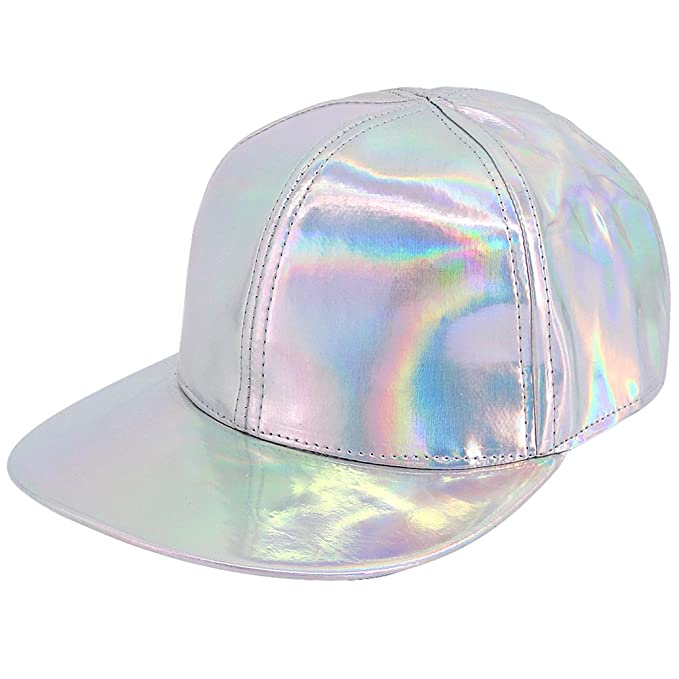 e325ac2162cbde Image Unavailable. Image not available for. Color: Naimo Fashion Shiny  Holographic Adjustable Strap Baseball Cap ...