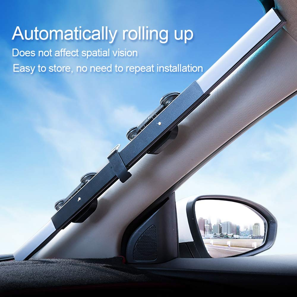 80CM Upgarde Retractbale SUV Camion Parabrezza Auto Parasole Finestra Posteriore Protezione Solare Protezione Solare Tenda UV Hadeyicar 46CM 65CM 70CM