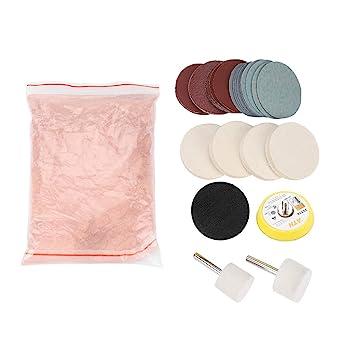 Kit de pulido de vidrio Eliminación de arañazos Polvo de pulido de óxido de cerio Almohadilla