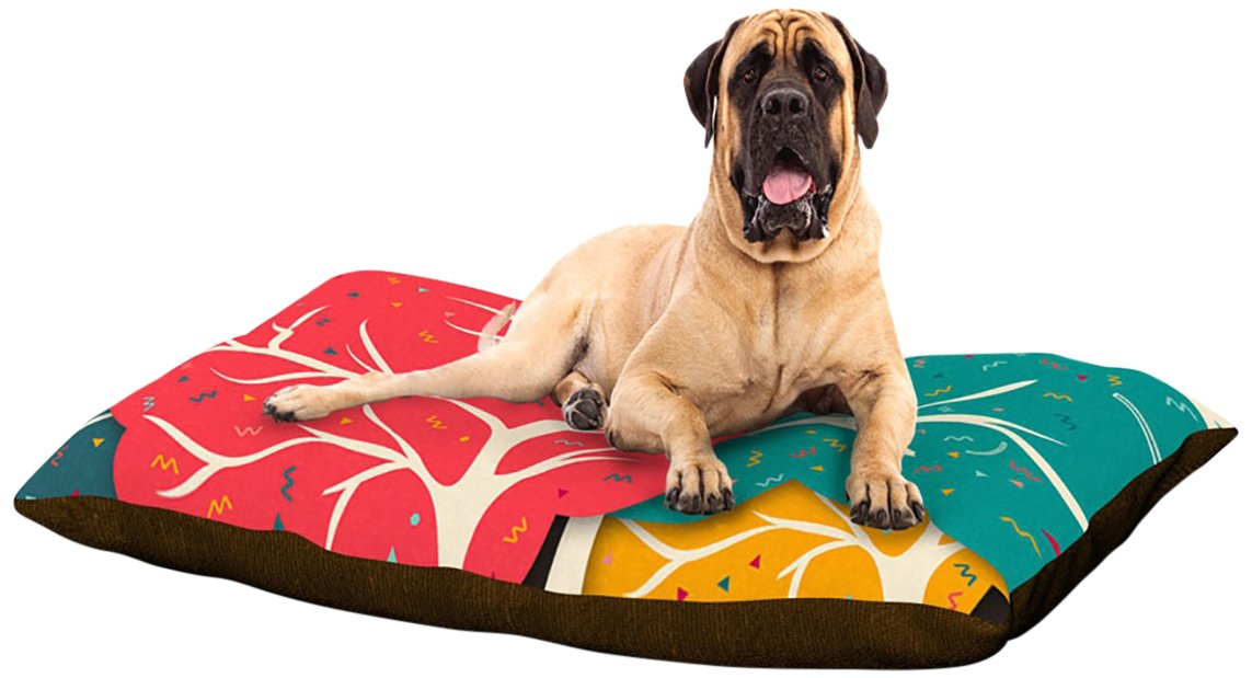 X-Large 40\ Kess InHouse Danny Ivan Feel Again  Dog Bed, 50 by 60-Inch, bluee Red