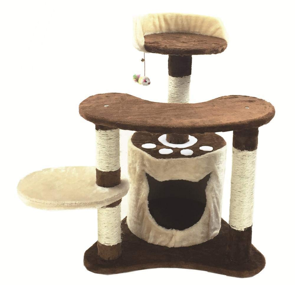 A Axiba Play Towers Trees for Cats Pet cat Toy Grab Board cat Villa furniture cat nest bed House 55  50  73cm plate Hemp Rope Flannel