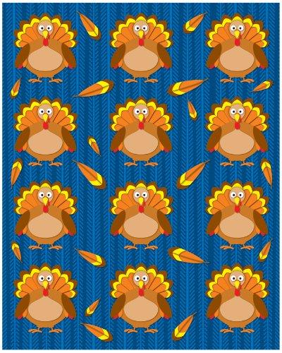 Carson Dellosa Turkeys Shape Stickers -