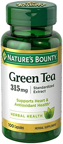 Nature's Bounty Green Tea Extract, 315mg, 100 Capsules Pack of 2