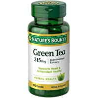 Nature's Bounty Green Tea Extract, 315mg, 100 Capsules (Pack of 2)