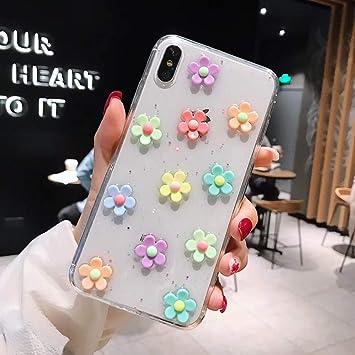 SFJUL Caja del teléfono de para 3D Daisy Flower Case para iPhone ...