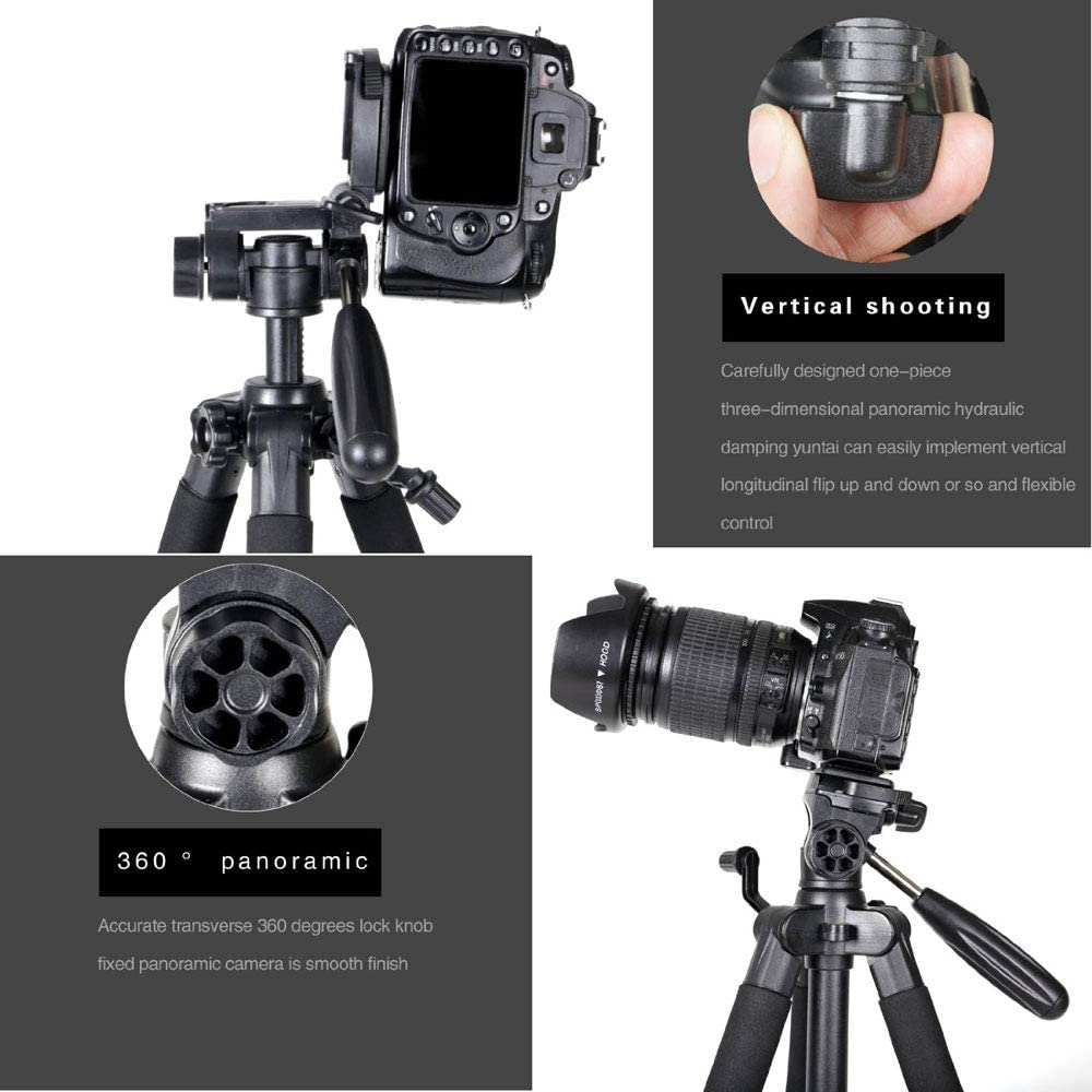 Best Choice for SLR Camera in Your Travel 55 Professional Aluminum Alloy Camera Tripod for DSLR Canon Nikon Sony DV Video and Smar.A Portable Pocket Makes It Easy to Carry