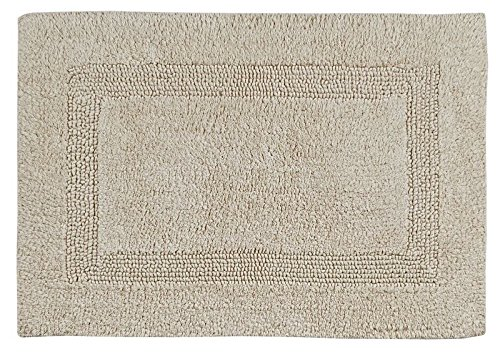 Better Trends / Pan Overseas Lux 200 GSF 100-Percent Cotton Reversible Bath Rugs, 24 by 40-Inch, Sand