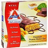 4 Pack of Atkins Advantage Bar Chocolate Peanut Butter - 5 Bars - Gluten Free - Wheat Free -