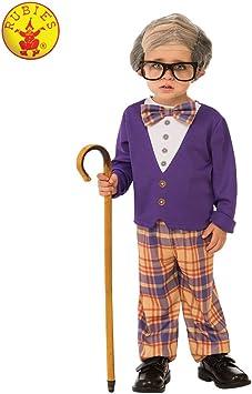 Rubies - Disfraz de pequeño hombre viejo para niño, talla 5-6 años ...
