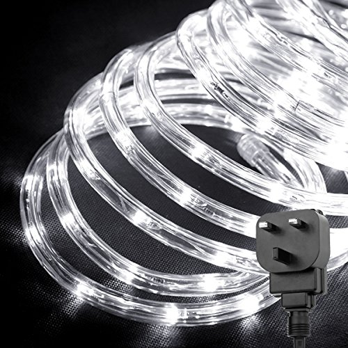 Led Waterproof Strip Lights White Flexible Rope Lighting: LE Outdoor LED Rope Lights Kit, 10m 240 LEDs Waterproof