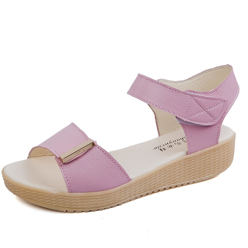 Nevera Women's Shoes Strap Ankle Wrap Summer Open Toe Platform Dress Sandal Pink