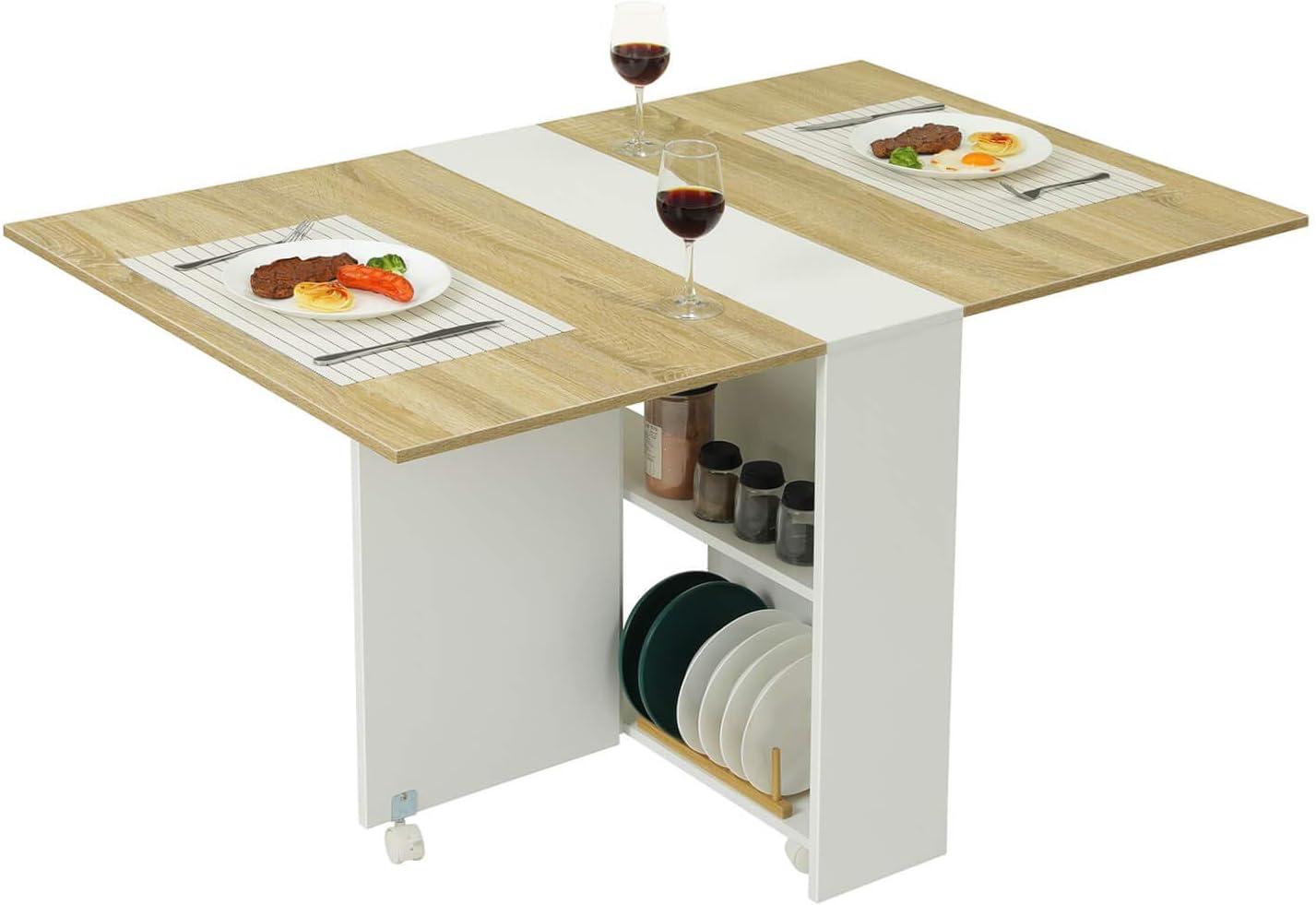- Amazon.com: Tiptiper Folding Dining Table, Versatile Dinner Table