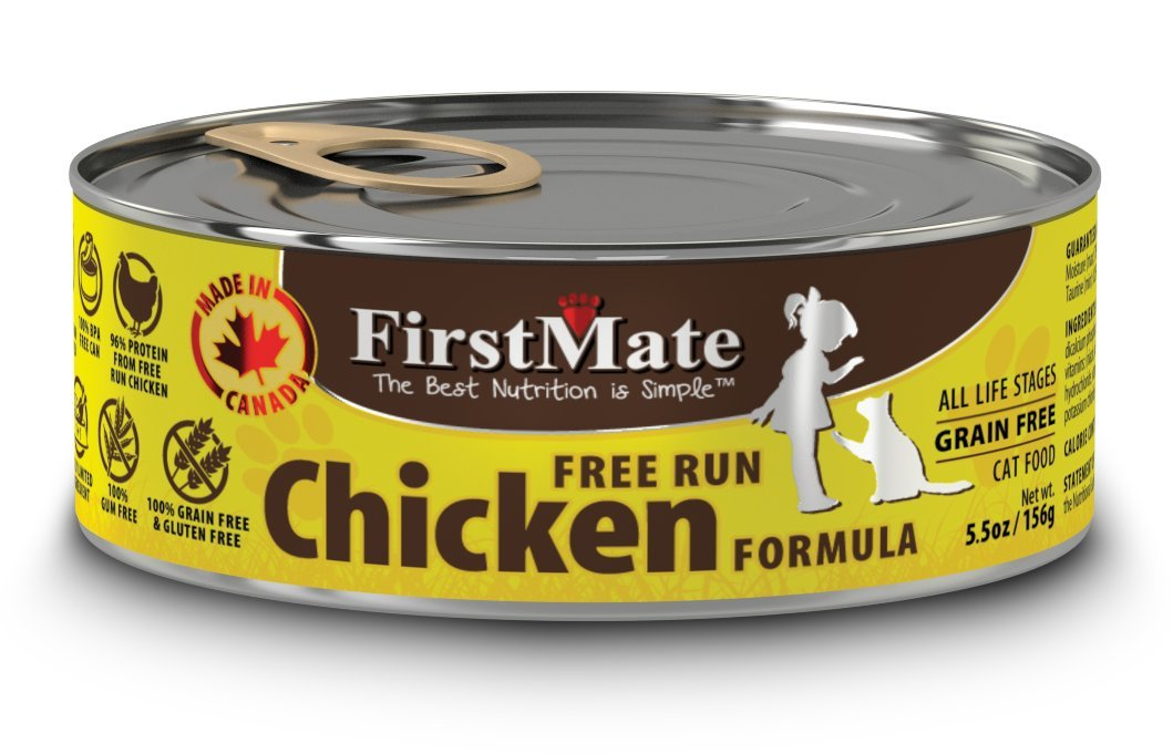 FirstMate Pet Foods Can Chicken Cat Food, 5.5-Ounce, Pack of 24 cans