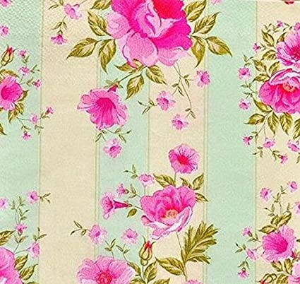 Amazon romance tales food grade flowerrose pattern paper romance tales food grade flowerrose pattern paper napkin wedding baby shower festive mightylinksfo