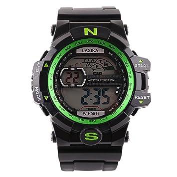 Hombre al aire libre impermeable de los deportes relojes militares Digital Display con brújula/alarma/cronómetro para estudiar, viajar, escalada, ...