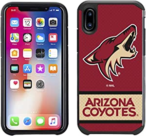 Prime Brands Group NHL-JE1-iX-PXC Apple iPhone X/Xs - NHL Licensed Arizona Coyotes Red Jersey Textured Back Cover on Black TPU Skin