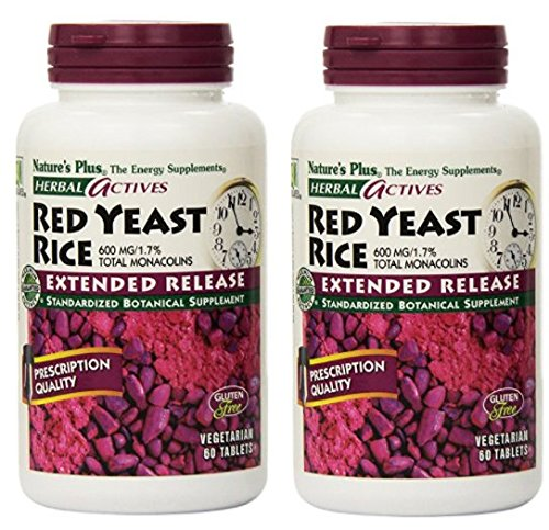 Nature's Plus - Extended Release Red Yeast Rice 600Mg (7361), 60 tablets (120 tablets)