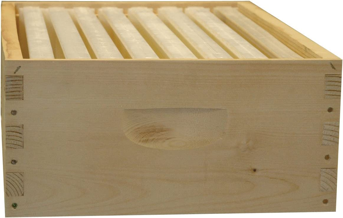 SHALLOW 8 Frame Unassembled Super Langstroth Beehive Box COMM PINE FREE SHIPPING