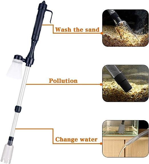 MuZhuo - Aspiradora eléctrica para Acuario con Filtro de Agua para Tanque de Peces, para Limpieza de peceras Grandes y pequeñas: Amazon.es: Jardín
