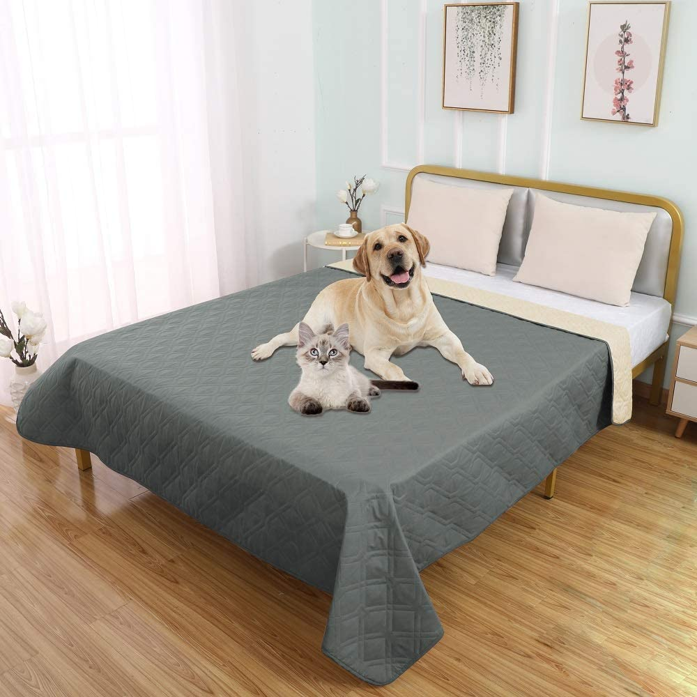 SUNNYTEX Waterproof Dog Bed Cover Pet Blanket for Couch Sofa Anti-Slip Furniture Protrctor