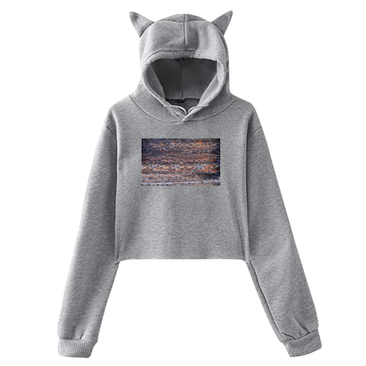 Personality Girl Cat Ears Umbilical Hoodie Fashion Sweatshirt Sweater