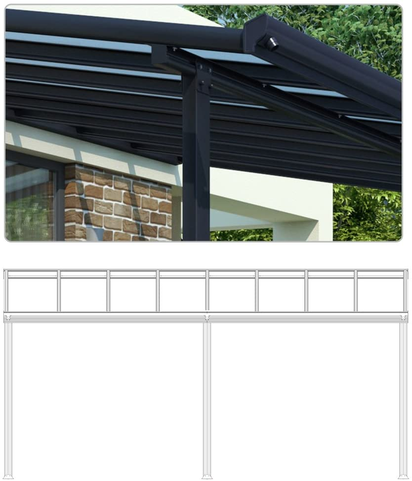 Techo de aluminio para terraza y pérgola, 557 x 303