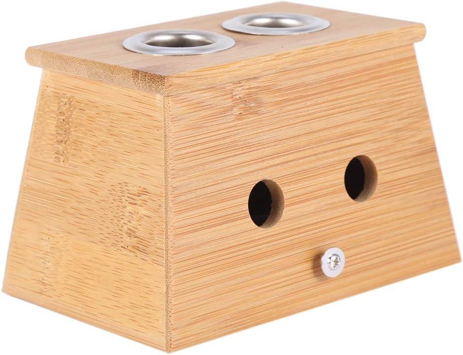 Caja de Moxa, Asixx, Caja Para Moxibustion, Moxas Chinas, Caja de Bambú, Medicina de China, Para Mitigar Dolor del Cuerpo(2 Agujeros): Amazon.es: Belleza
