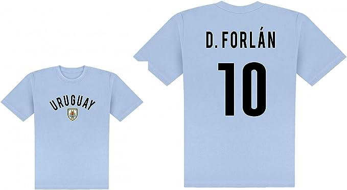 World of Football Player Camiseta Uruguay forlan Talla:extra-large: Amazon.es: Deportes y aire libre
