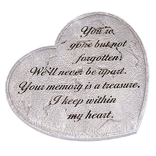 Gone But Not Forgotten Bereavement Heart Shaped 11 in. Garden Stepping (Forgotten Stones)