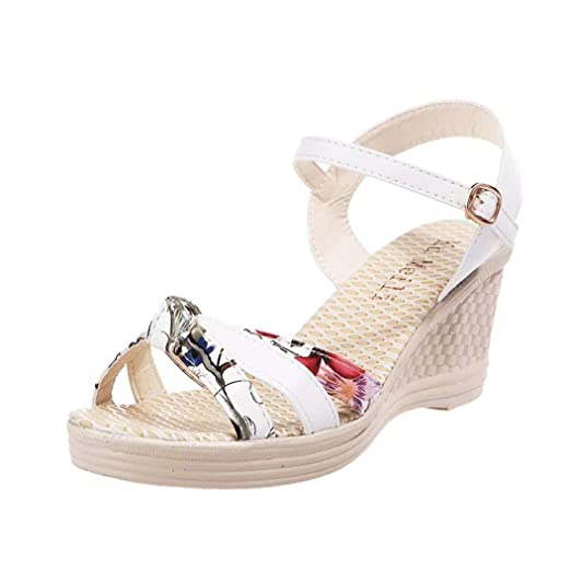 3eb662ea7bc4d Summer Sandals,Boomboom 2018 Young Women Teen Girls Wedges Shoes Open Toe  High-Heels Platform Shoes