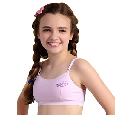 e6a5a4446673a Young Girls One-Piece Thin Cotton Breathable Sleeping Bras Without Back  Hooks MANJIAMEI  Amazon.co.uk  Clothing