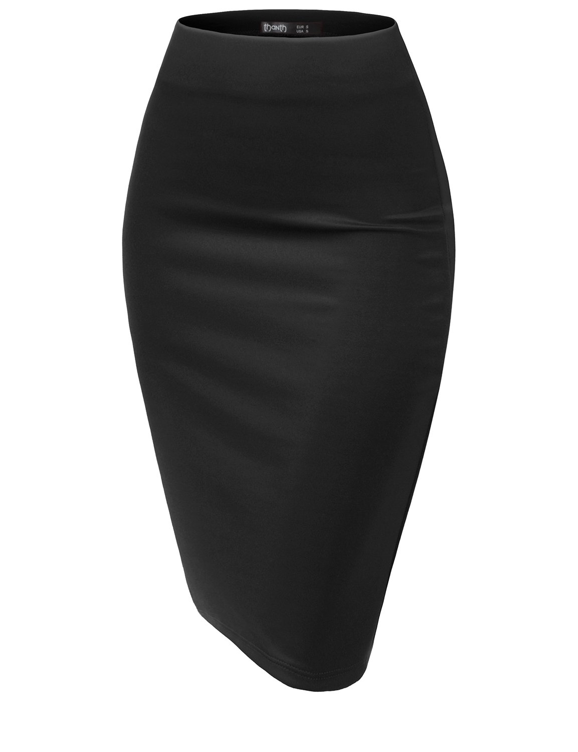 TWINTH Slim Fit Wear to Work Business Party Bodycon Plussize Pencil Skirts BLACK XL