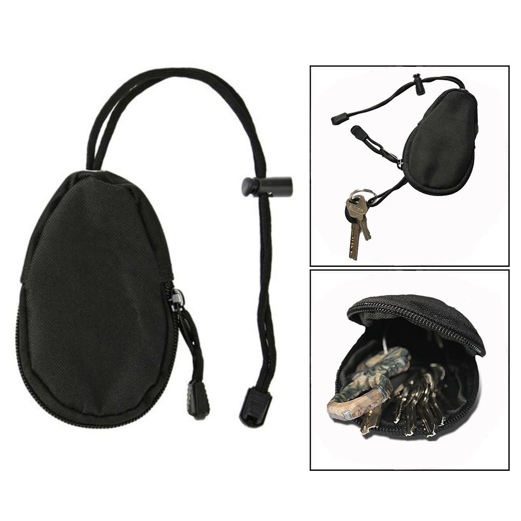 OFKP Mini Outdoor Army Fan Key EDC Bag, Mini Coin Purse for Lighter,Small Flashlight,Coins,Key and Other Pocket Items