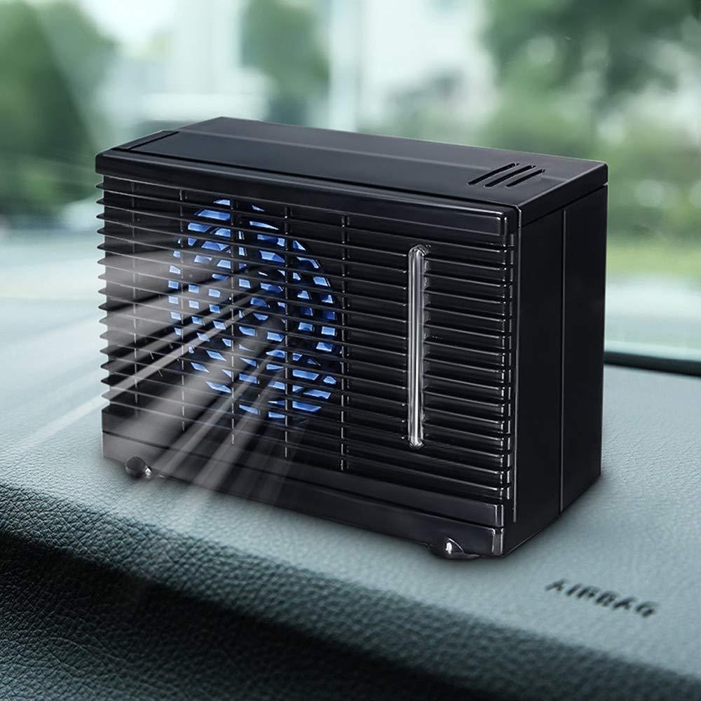 HDJC Ventilador del Aire Acondicionado de refrigeración, Ventilador de Coche portátil de Alta Potencia 12V Aire de refrigeración por Agua para automóviles, viajeros, automóviles: Amazon.es: Deportes y aire libre