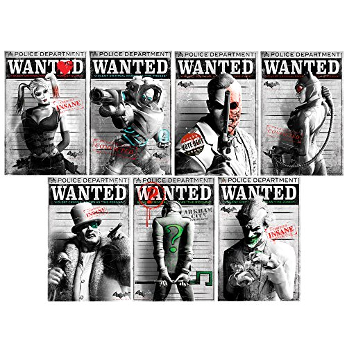 Batman Villain Wanted Poster Large Wall Decal Set -