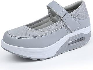 EMVANV Femmes Mode Respirant Chaussures de Sport Chaussures à Plateforme Fond Épais Chaussures d'infirmières